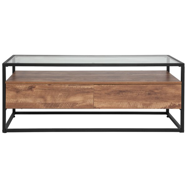 Union Rustic Glass Top Coffee Tables