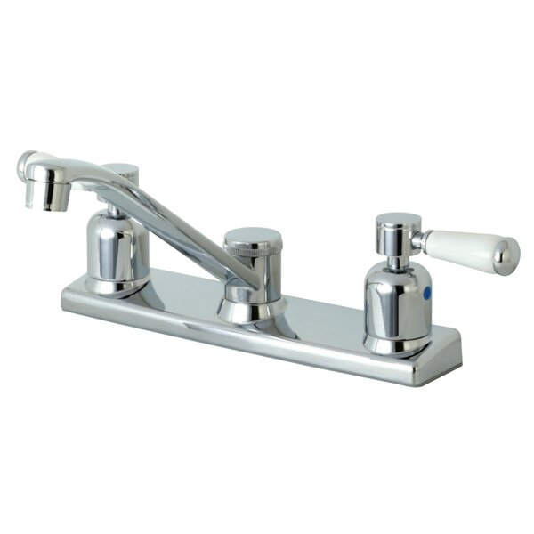 Paris Centerset Double Handle Kitchen Faucet by Kingston Brass