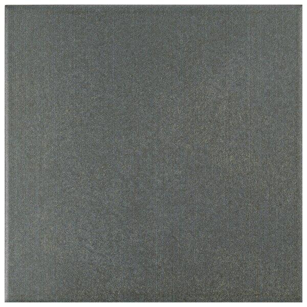 Forties 7.75 x 7.75 Ceramic Field Tile in Black/Charcoal by EliteTile