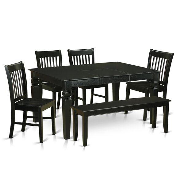 Pennington Traditional 6 Piece Dining Set by Beachcrest Home
