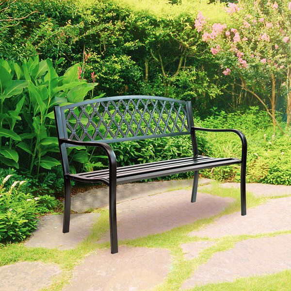 Zaliki Durable Steel Park Bench by Canora Grey