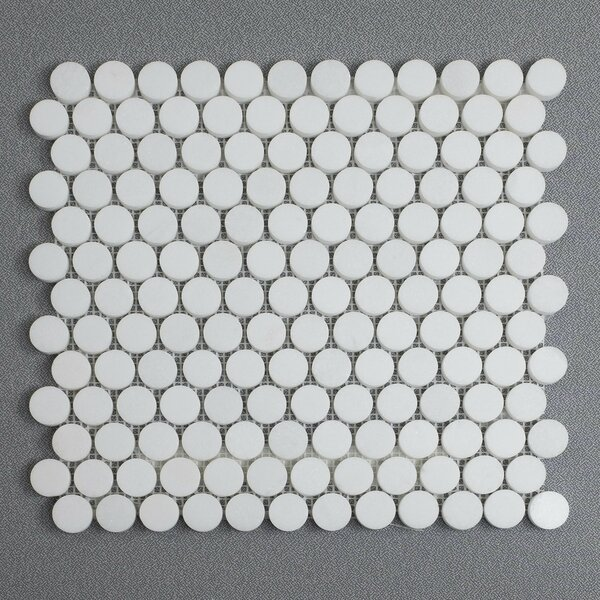 Penny 12 x 12 Marble Mosaic Tile