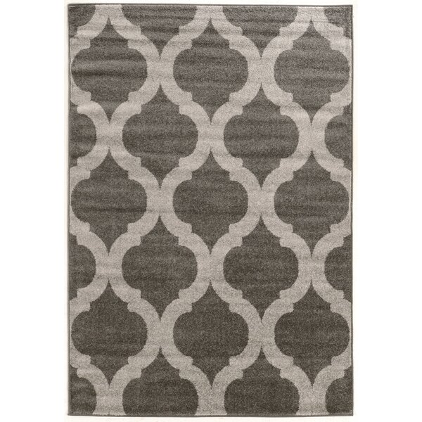 Wellersburg Gray Area Rug by Three Posts