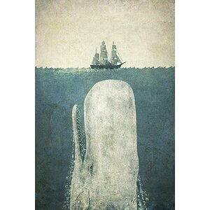 'White Whale' Graphic Art Print by Beachcrest Home