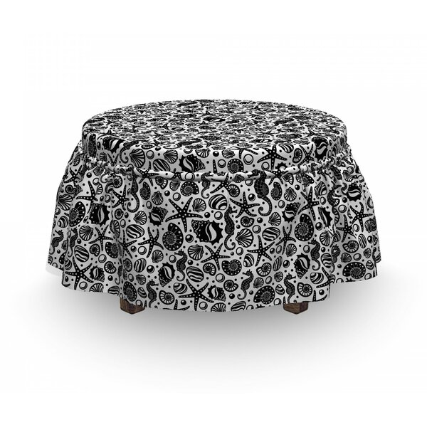 Underwater Ottoman Slipcover (Set Of 2) By East Urban Home