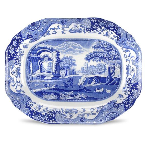 Blue Italian Oval Platter by Spode