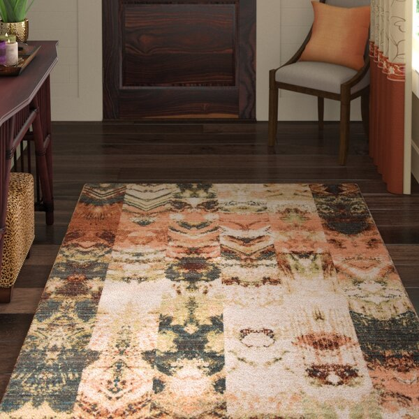 Victoria Green/Brown Area Rug by World Menagerie