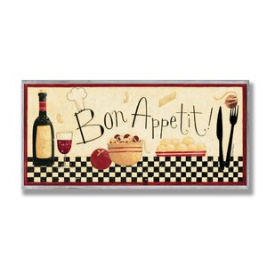'Bon Appetit' Framed Graphic Art Print On Wood by Andover Mills