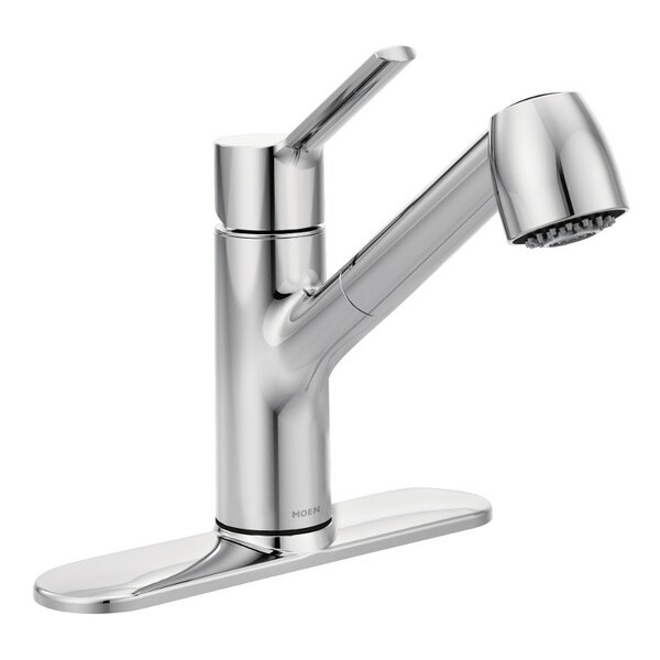 Method Pull Out Single Handle Kitchen Faucet with Duralock™ and Power Clean™ by Moen