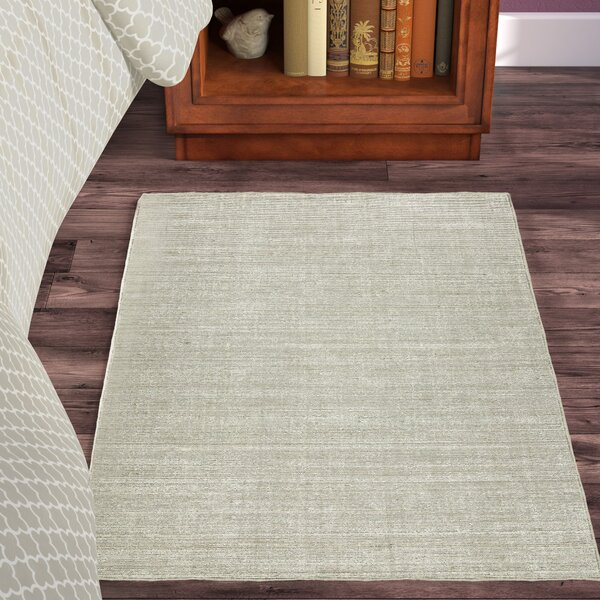 Gainer Nickel Hand-Woven Gray Area Rug by Winston Porter