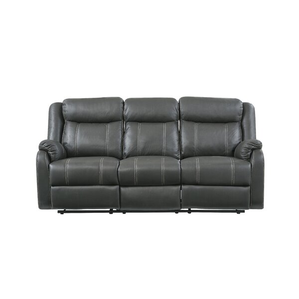 Shop Affordable Morphew Drop Down Table and Drawer Reclining Sofa by Winston Porter by Winston Porter