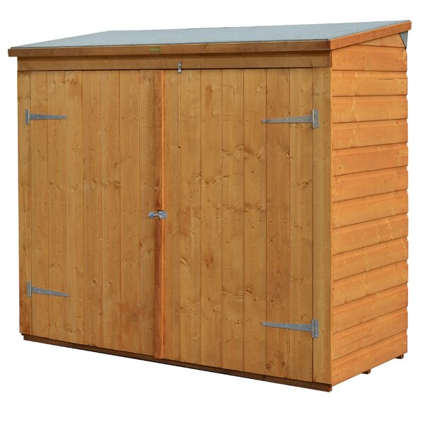 6 ft. W x 2 ft. 6 in. D Wooden Vertical Bike Shed by Rowlinson