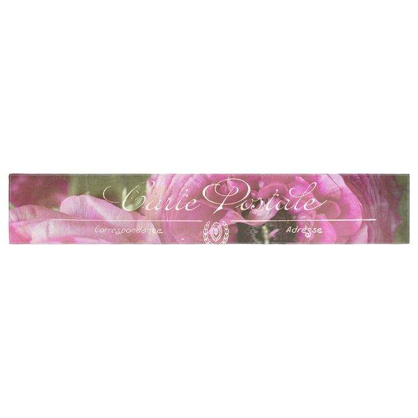 Ann Barnes Paris Postcard Flowers Table Runner by East Urban Home