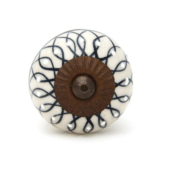 Handpainted Round Knob by Shabby Restore