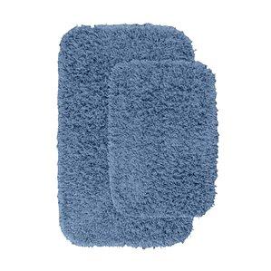 Devie 2 Piece Blue Bath Rug Set Set Of 2