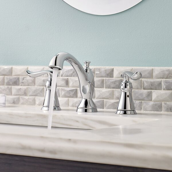 Linden Widespread Bathroom Faucet and Diamond Seal Technology with Optional Pop-Up Drain Assembly by Delta