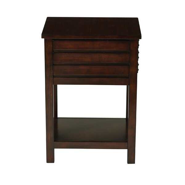 Bisen End Table With Storage By Charlton Home