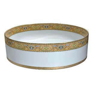 Reviews Byzantian Vitreous China Circular Vessel Bathroom Sink By ANZZI