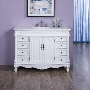 Distressed Bathroom Vanities wood distressed bathroom vanity | wayfair