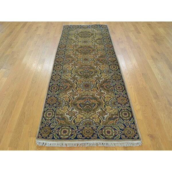 One-of-a-Kind Boller Arts Crafts Hand-Knotted Ivory Wool Area Rug by Isabelline