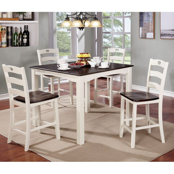 Harkins Wooden 5 Piece Counter Height Dining Table Set by Red Barrel Studio