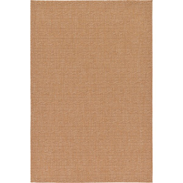 Dresden Light Brown Outdoor Area Rug by Bay Isle Home