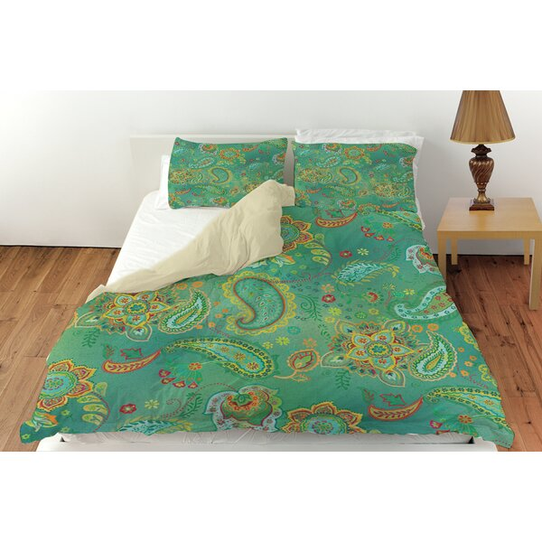 Aqua Bloom Paisley Duvet Cover Collection