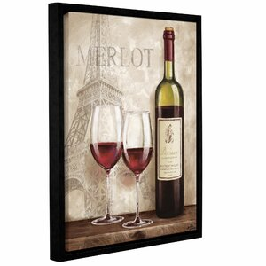 'Wine In Paris III' Framed Graphic Art by Charlton Home