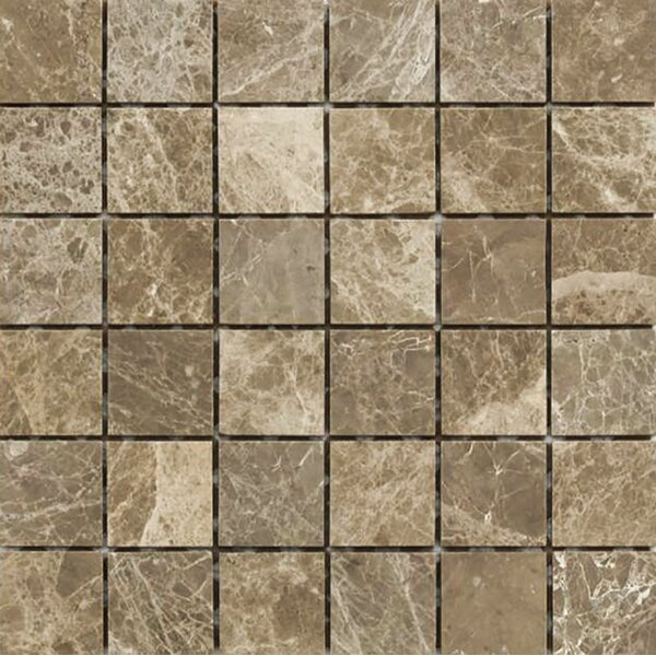 Emperador 2 x 2 Stone Mosaic Tile in Light Polished by Parvatile