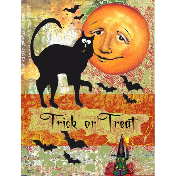 Testa Trick Or Treat Moon Vertical Flag by The Holiday Aisle