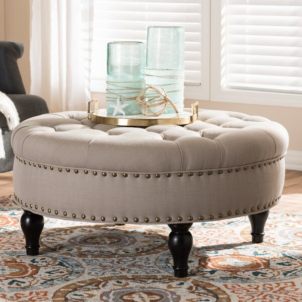 Reasor Cocktail Ottoman by Charlton Home
