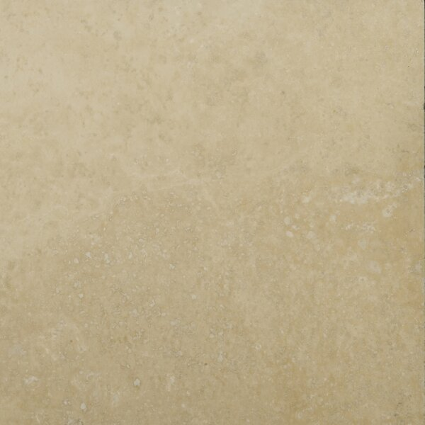 Travertine 6 x 6 Unfilled and Tumbled Tile in Ivory Classic by Emser Tile