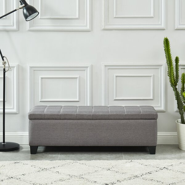 Lizzie Upholstered Storage Bench By Wrought Studio by Wrought Studio Cheap
