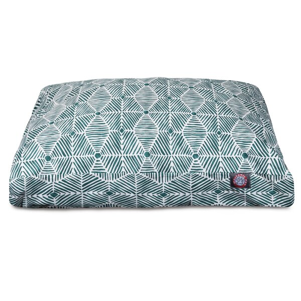 Charlie Rectangle Pet Bed with Waterproof Denier Base by Majestic Pet Products
