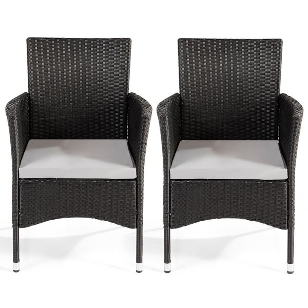Rothville Patio Dining Chair with Cushion (Set of 2) by Latitude Run