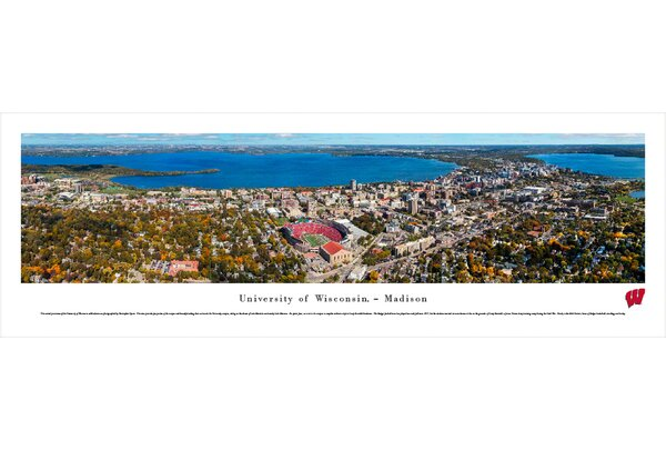 NCAA Wisconsin, U of - Aeria - Football by James Blakeway Photographic Print by Blakeway Worldwide Panoramas, Inc