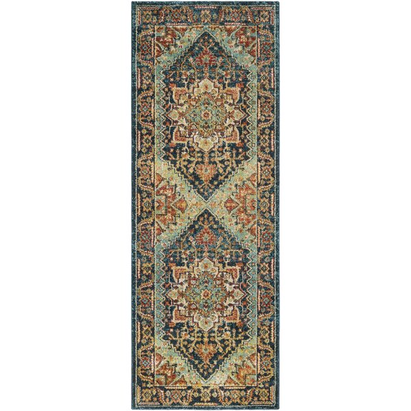 Grayer Classic Teal Area Rug by Alcott Hill