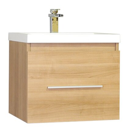 Waldwick 24 Single Wall Mount Modern Bathroom Vanity Set by Wade Logan