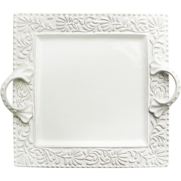 Traditional Floral Square Tray by Lark Manor