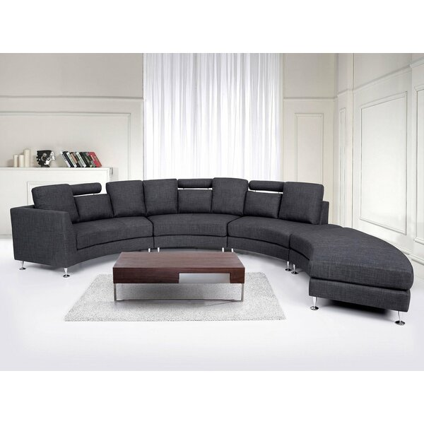 Crivello Curved Sectional Sofa by Orren Ellis