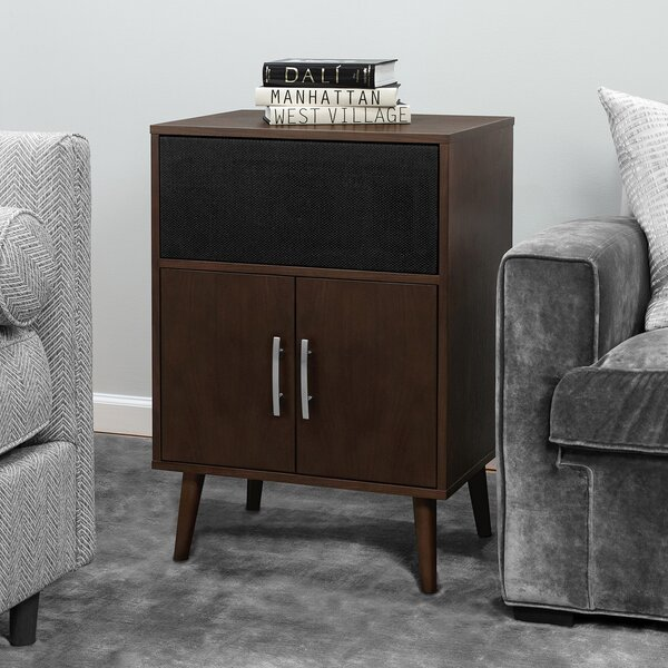 Deatsville Bluetooth Speaker End Table By George Oliver
