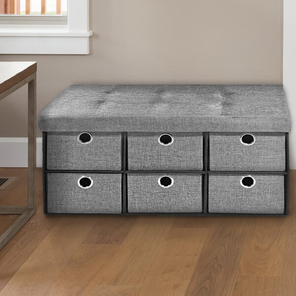 Newman Collapsible Storage Ottoman by Winston Porter