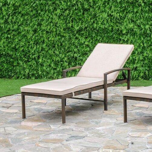 Audette Sun Lounger Set with Cushion (Set of 2)
