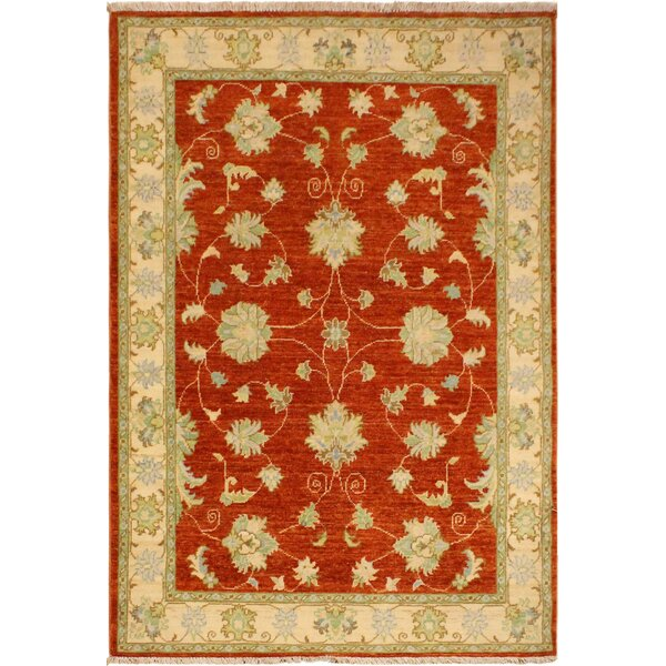 One-of-a-Kind Dorn Hand-Knotted Wool Rust/Ivory Area Rug by Isabelline