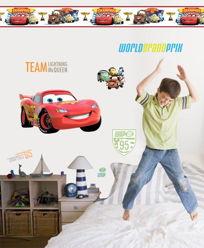 Disney Cars 2 Room Makeover Wall Decal