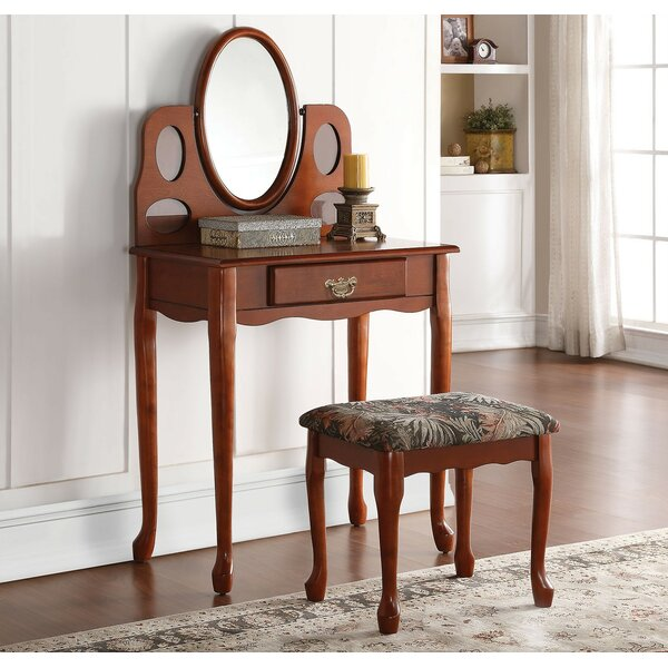 Bell Vanity Set with Mirror by A&J Homes Studio