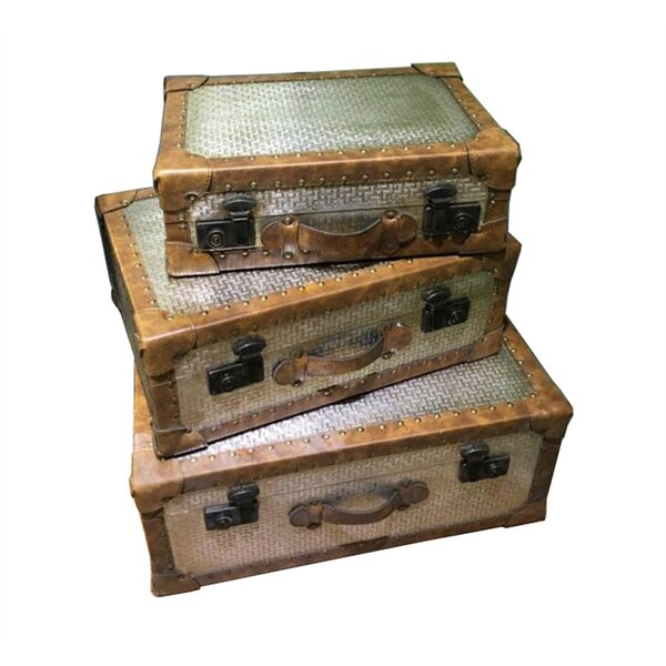 Prager Metal Suitcases 3 Piece Decorative Box Set by Bloomsbury Market