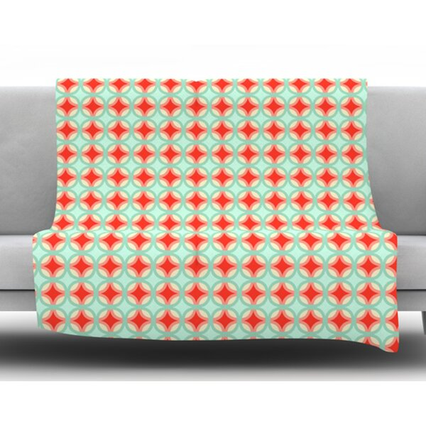 Retro Circles by Catherine McDonald Fleece Blanket by East Urban Home