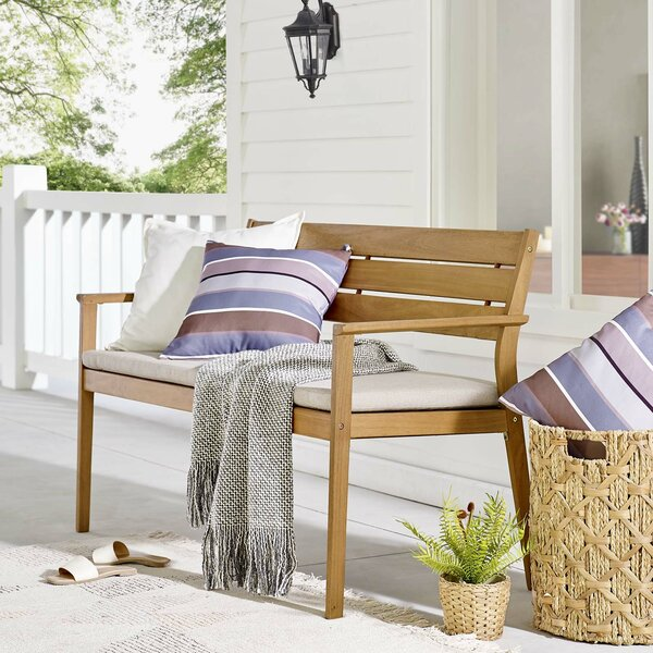 Aliya Loveseat with Cushions by Rosecliff Heights