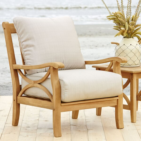 Brunswick Teak Patio Chair With Cushions By Birch Lane™ Heritage
